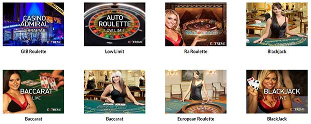 Casino Superlines Jeux en direct