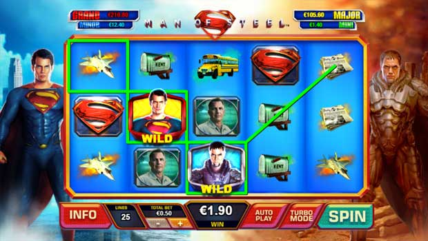 Man of Steel de Playtech